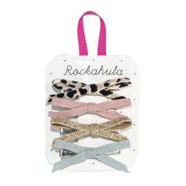 Rockahule Kids -Lily Leopard 'skinny bow' haarclips