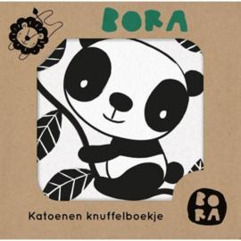 Bora katoenen knuffelboekje Panda