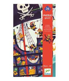 Giant Puzzel 36 stukjes - piratenschip