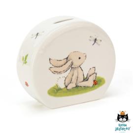 Jellycat porseleinen spaarpot Bashful Bunny