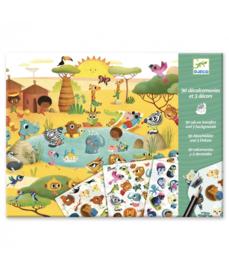 Djeco - Krasplaatjes Savanna, Woestijn en Noordpool