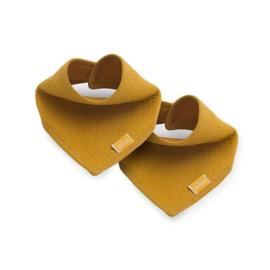 Jollein Slab Bandana - Brick velvet  Mustard - 2 Stuks