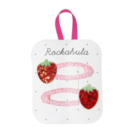 Rockahula Kids - Haarclips met glitter aardbei