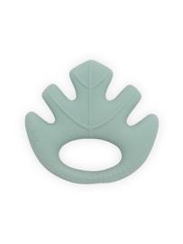 Jollein Bijtring Leaves - Ash Green - 100% rubber