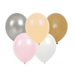 Jabadabado Ballonnen zilver/peach/roze/wit/goud (10 st./zakje)