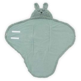 JOLLEIN - Wikkeldeken Bunny 100x105cm - Ash Green