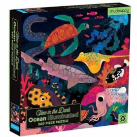Mudpuppy - Glow in the Dark Puzzle - Ocean Illuminated (500pcs)