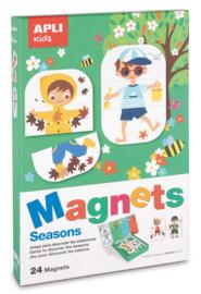 APLI - Seizoenen Magneetkaart (bord 36x18cm, 24 magneten)