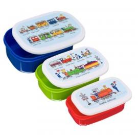Snackbox set van 3 - treinen