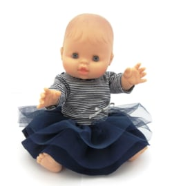 Paola Reina babypop Gordi meisje blauw/wit pakje