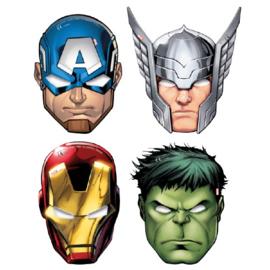 Procos maskers Migthy Avengers 17 x 10,5 cm karton 6 stuks