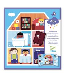 Djeco - Boekje met herbruikbare stickers - Het huis
