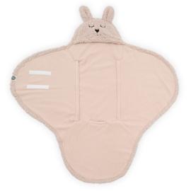 JOLLEIN - Wikkeldeken Bunny 100x105cm - Pale Pink
