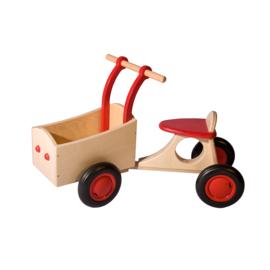 Houten bakfiets - Van Dijk Toys - rood