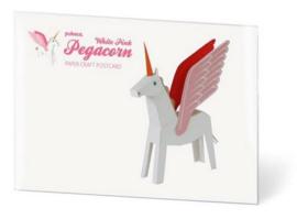 PUKACA - Eenhoorn met vleugels Roze Wit