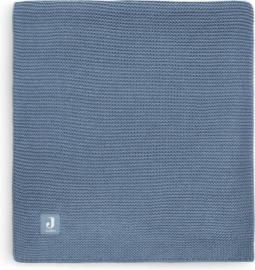 Jollein deken basic knit 75x100cm Jeans blue