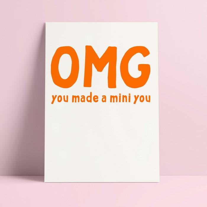 Postkaart - Geboorte - You made a mini you