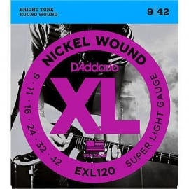D'Addario Electric - EXL120 Nickel Wound/ Super Light Gauge