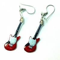 Oorbellen Fender Jagstang Red (Kurt Cobain, Nirvana)