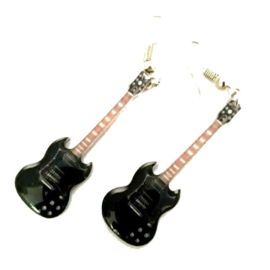 Oorbellen Gibson SG black (Angus Young, AC/DC)