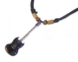 Halsketting gitaar - SG zwart (Angus Young, AC/DC)