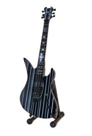 Miniatuurgitaar Avenged Sevenfold - Schecter Synyster Custom Black Silver Stripes