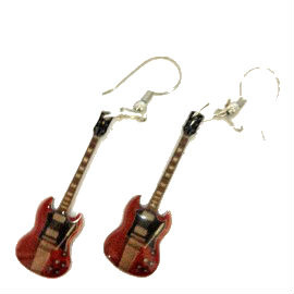 Oorbellen Gibson SG (Angus Young, AC/DC)