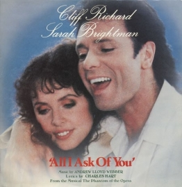 "Cliff Richard And Sarah Brightman, Andrew Lloyd Webber - All I Ask Of You | 2e hands 12"" vinyl single"
