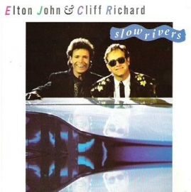 "Elton John & Cliff Richard - Slow Rivers | 2e hands 12"" vinyl single"