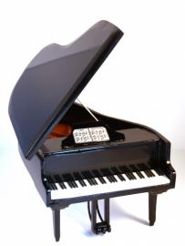 Miniatuur concertvleugel ( piano ) ZWART + Bankje