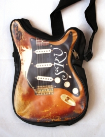 "Schoudertas klein model Stratocaster 'Stevie Ray Vaughan tribute"" - leatherlook-"