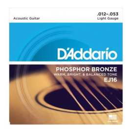 D'Addario Acoustic - Phosphor Bronze Light Gauge EJ16