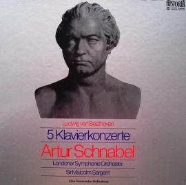 Ludwig van Beethoven  - 5 Klavierkonzerte 4 LP-Box - Artur Schnabel  | 2e hands vinyl 4LP box