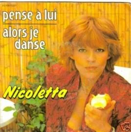 """Nicoletta - Pense À Lui - 2e hands 7"""" vinyl single-"""