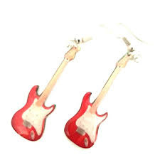 Oorbellen Stratocaster red (Mark Knopfler)