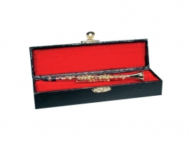 Miniatuur klarinet, 16 cm. in koffertje