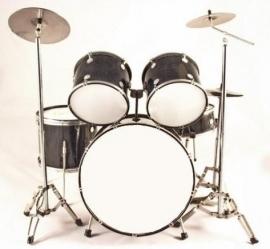Miniatuur drumstel zwart
