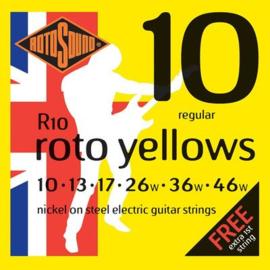 Rotosound R10 Roto Yellows electric nickel wound 10-46