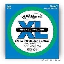 D'Addario Electric - EXL130 Nickel Wound/ X-Super Light Gauge