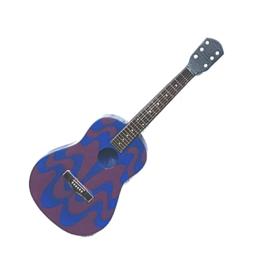 Gitaarminiatuur met magneet Akoestische gitaar -PSYCHEDELIC-