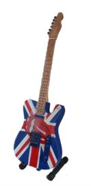Miniatuurgitaar Keith Richards ( Rolling Stones) -  Fender Telecaster -Union Jack / Tongue 2