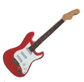 Gitaarminiatuur met magneet | Stratocaster red - Mark Knopfler (Dire Straits)