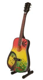 Miniatuurgitaar Acoustic -  Bob Marley tribute