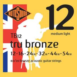 Rotosound TB12 Tru Bronze Acoustic Bronze Medium Light