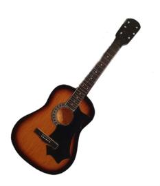 Gitaarminiatuur met magneet Akoestische gitaar