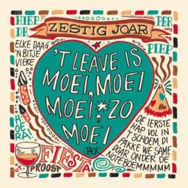 Jack Poels ( Rowwn Hèze ) - Zestig joar 't leave is moei, moei moei, zo moei  | Boek + 2CD