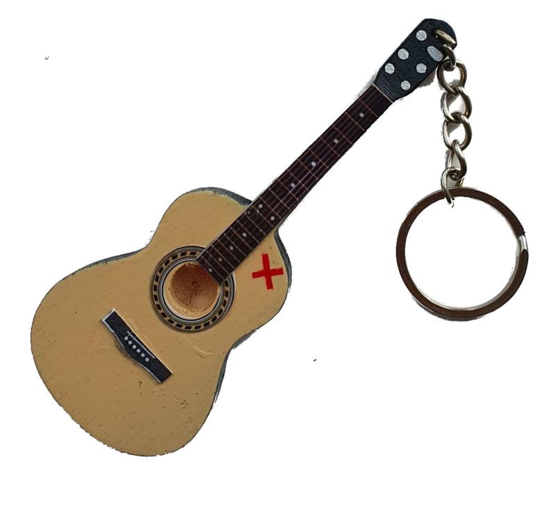 Sleutelhanger akoestische gitaar (Ed Sheeran)