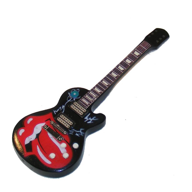 Gitaarminiatuur met magneet     Les Paul Rolling stones tribute
