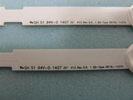 LS807/32 SET BACKLIGHT LED STRIPS  (3 STUKS) AGF78399201 LG