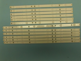 LS724/50    SET LED STRIPS ( 12 STUKS)   996592001124 NML   IDEM   9965992003618  PHILIPS
